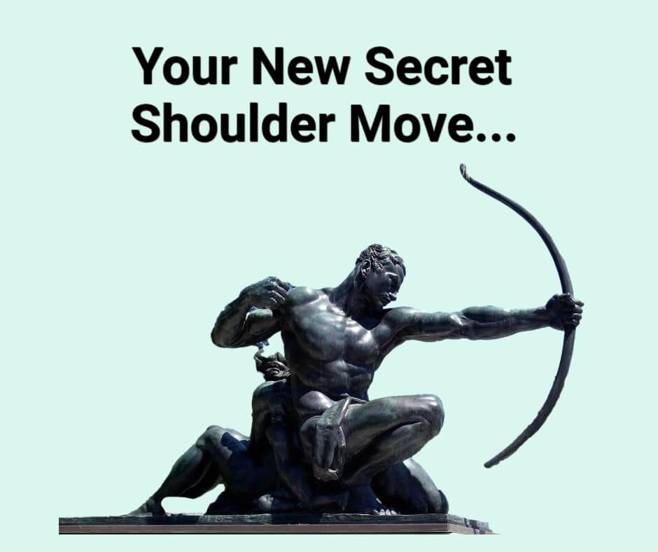 Shoulder movement in golf swing